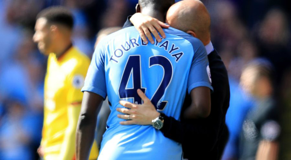 Yaya Toure dan Pep Guardiola